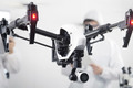 The transforming DJI Inspire 1 quadcopter drone shoots 4K video as it soars above