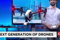 Test flying a drone in the newsroom